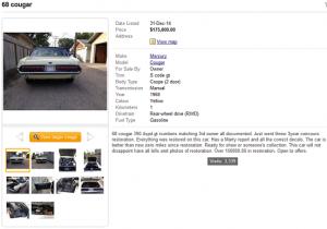 68 Cougar GT 390